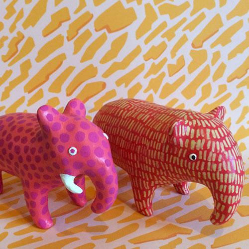 Elephant & Anteater Sculptures