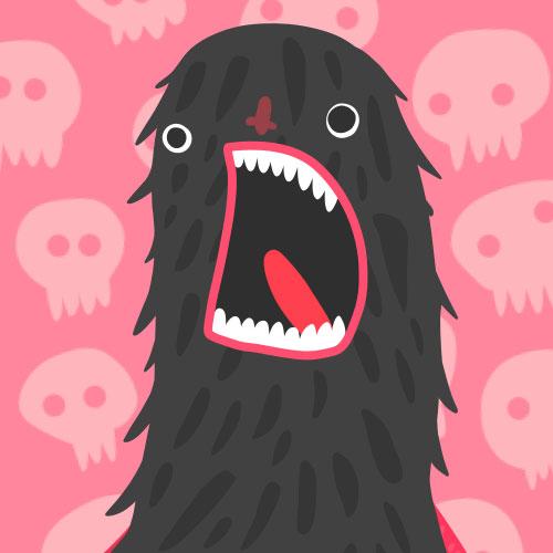 Fluffy Scream face