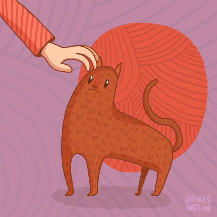 Cat illustration by Jonas Welin