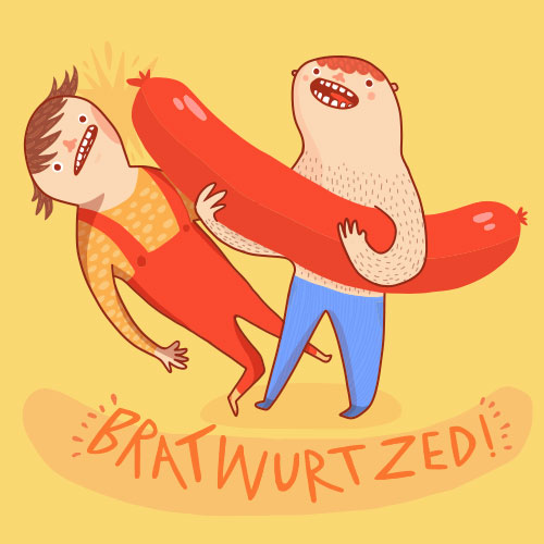 Bratwurtzed illustration