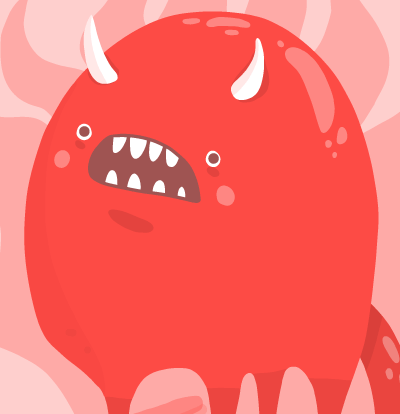 Burn in Hell – Cute devil illustration