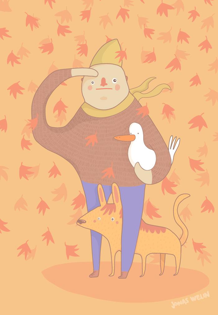 Fall illustration by Jonas Welin