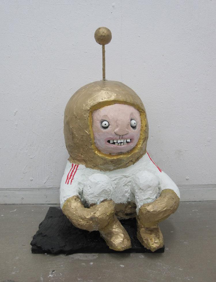 Spaceman sculpture by Jonas Welin