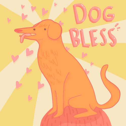 Dog Bless illustration