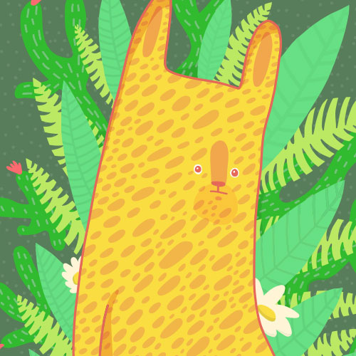 Bush Animal illustration