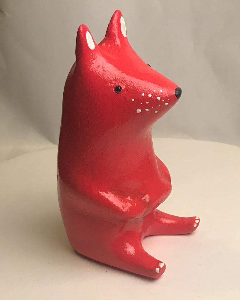 fox sculpture by Jonas Welin